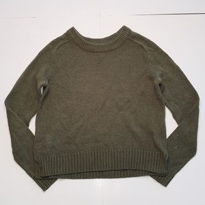 H&M Olive Green Cropped Sweater